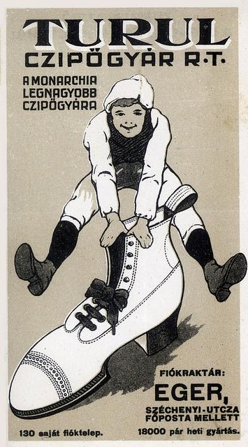 Vintage Hungarian Advertisement - Turul Shoe factory 1905 by takacsi75, via Flickr