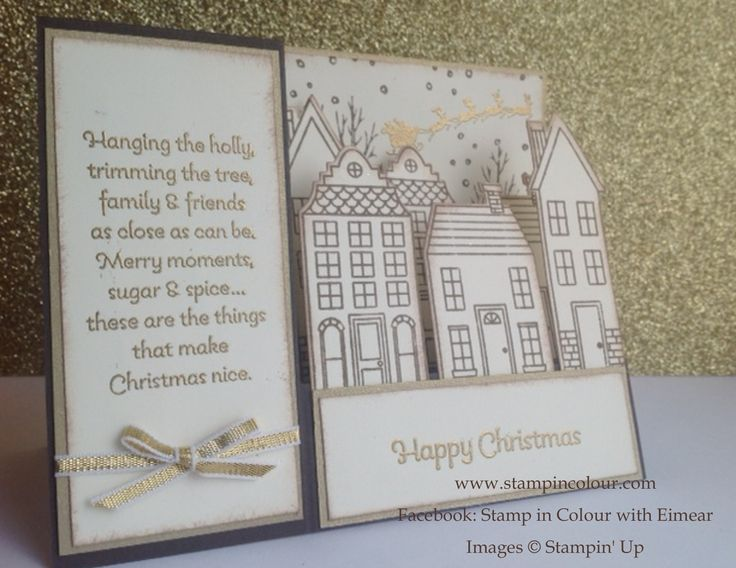 Christmas Card Making Ideas Stampin Up Part - 25: Stampin Up Christmas Card Ideas With White Christmas, Holiday Home And  Stair Step Cards