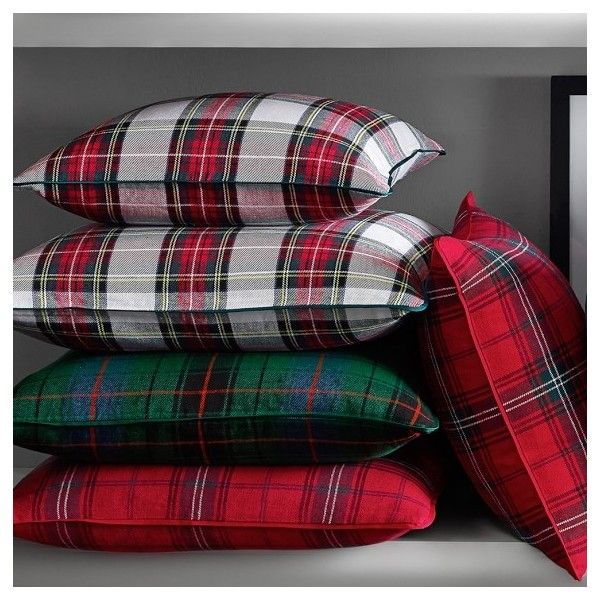 Classic Red Tartan Pillow Cover (6435 RSD) ❤ liked on Polyvore featuring home, home decor, throw pillows, plaid home decor, red home accessories, red toss pillows, williams-sonoma and red plaid throw pillows