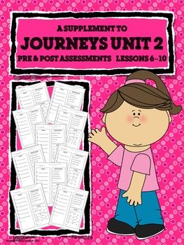 These are GREAT!!! Simple and quick assessments that I can give to my whole class at once! JOURNEYS FIRST GRADE Unit 2 Pre & Post Assessments