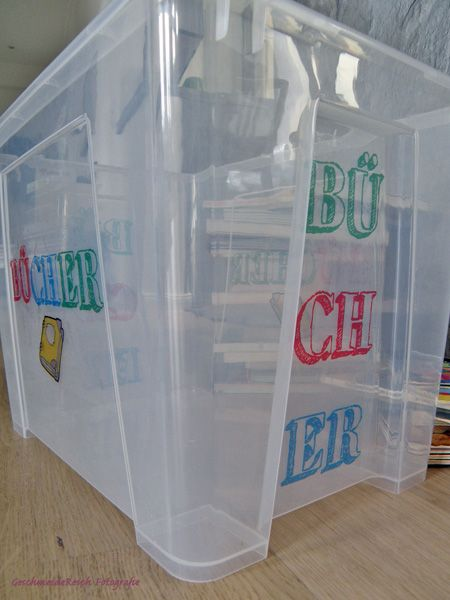 GeschmeideReich: DIY: selbstgemachte Sticker für Spielzeug-Boxen