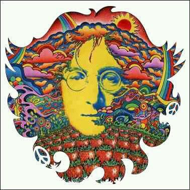 Could be a fun shoulder piece.  Strawberry Fields for Lennon - Psychedelic Art of Jeff Hopp