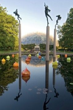 Missouri Botanical Garden, America's oldest botanical garden.