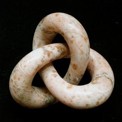 Trefoil Knot 2011 -Nicholas Durnan Penarth alabaster 150 x 160 x 100