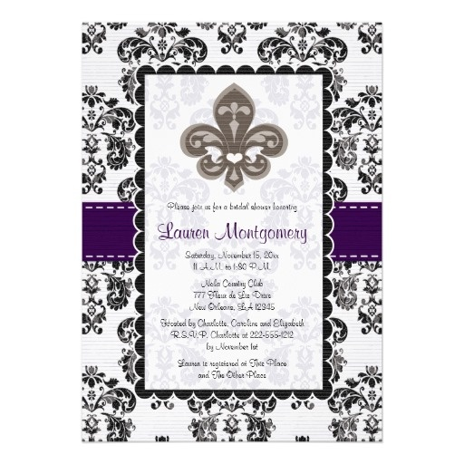 39 best fleur de lis wedding invitations images on pinterest, Wedding invitations