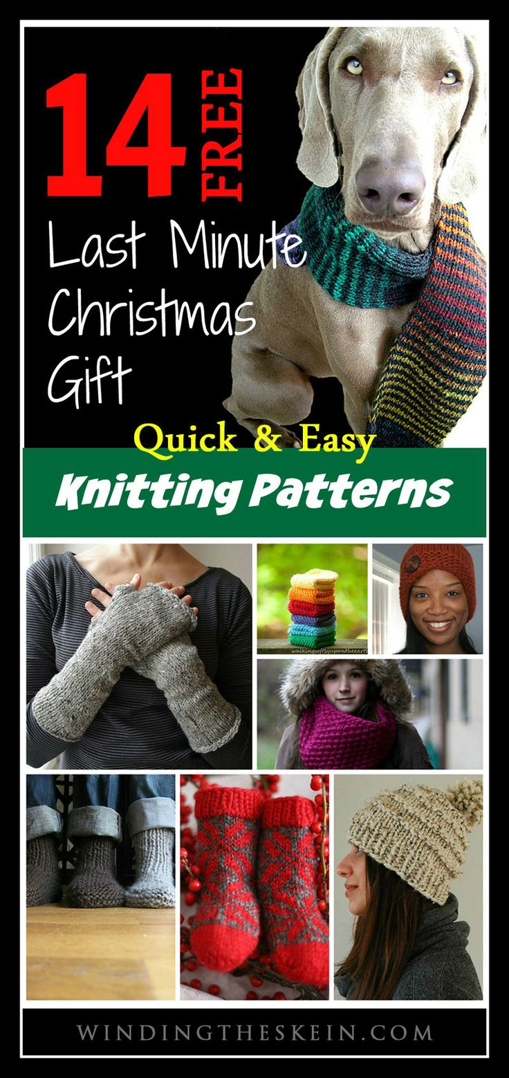 14 Quick, Easy & Free Winter Knitting Patterns   www.windingtheskein.com #knitting #diy #winter