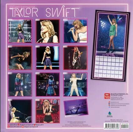 previews of a new 2017 taylor swift calendar with pictures from the 1989 world tour! - pt. 3/3