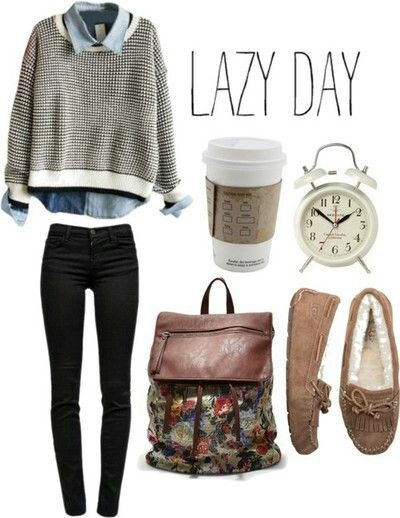 Lazy day#school outfit