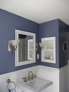 Love this color for my hall bathroom!