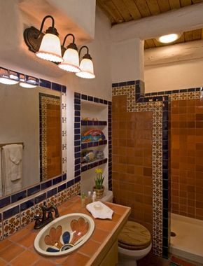 88 best images about talavera tile bathroom ideas on for Spanish bathroom design
