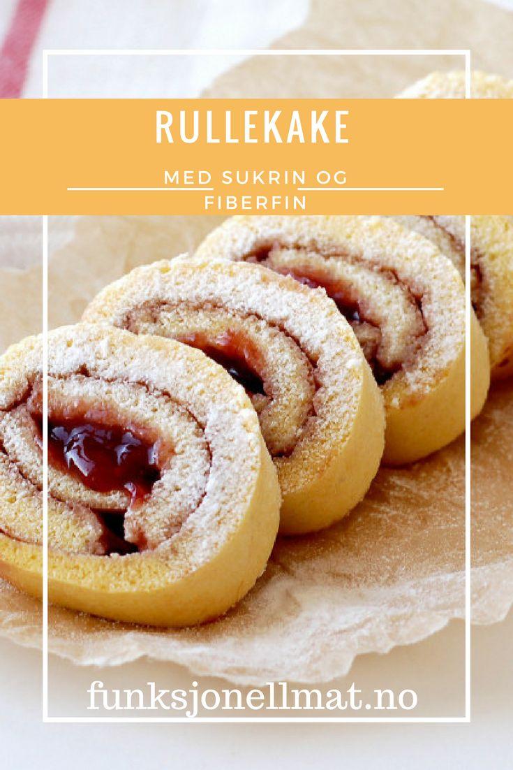 Rullekake med Sukrin og FiberFin - Funksjonell Mat   Oppskrift rullekake   Oppskrift kake   Enkel dessert   Sukkerfri kake   Enkel kake   Kake bursdag   Kake fest   Sunne oppskrifter