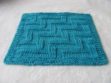 Free Knitting Pattern - Dishclothes & Washcloths : Stepped Dishcloth