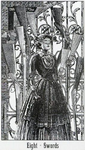 victoria regina tarot - 8 of swords