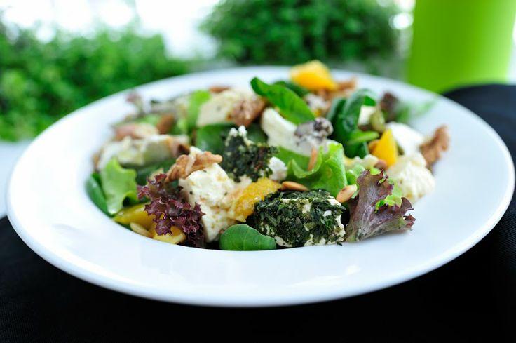 sałata z serami zagrodowymi / salad with goat cheese / Concordia taste