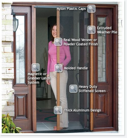 StowAway™ Retractable Screens | French Door Screen | Garage Screen Door