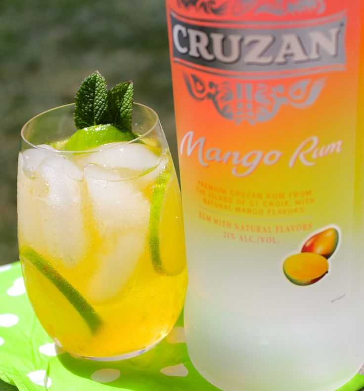 Mango Lime Cooler*** 1.5oz Cruzan Mango Rum** 2oz Mango Juice** 2oz Sprite** Freshly Squeezed Lime Juice from two wedges of lime** Fill your glass with ice.  Pour in the rum, mango juice and sprite.  Squeeze in your lime juice from lime wedges.  Stir.