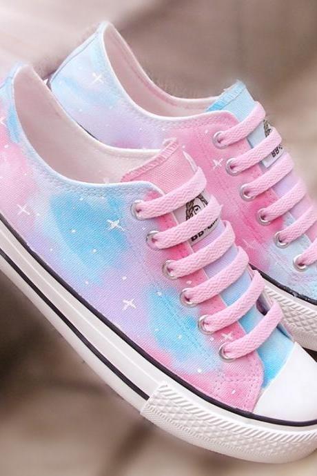 Harajuku Star-painted canvas shoes