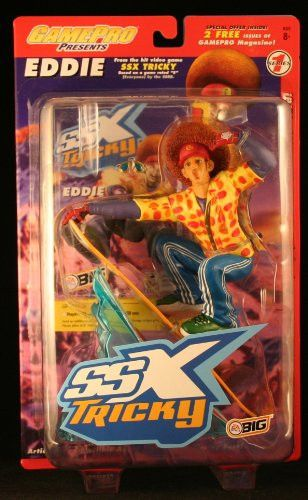 EDDIE from the hit EA SPORTS video game SSX TRICKY Series 1 Game Pro * 7 INCH * Action Figure & Snowboard
