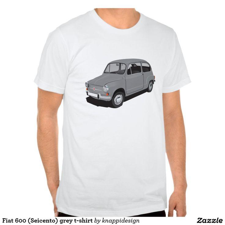 Fiat 600 (Seicento) grey t-shirt  Fiat 600 (Seicento) black t-shirt  #fiat #fiat600 #seicento #tshirt #tshirts #tpaita #troja #skjorta #italy #automobile #bilar #auto #classic #vintage