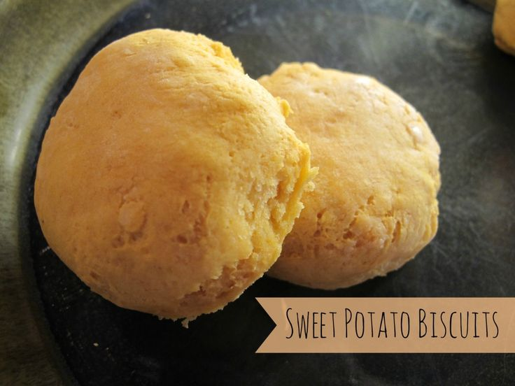 sweet potato biscuits - super easy.  I'm looking forward to experimenting with adding more flavor to them.