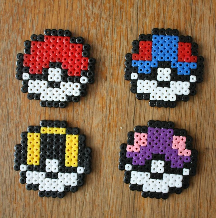 Pokeballs Perler Bead by strepie93 on deviantART