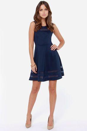 Dark Blue Dresses for Juniors
