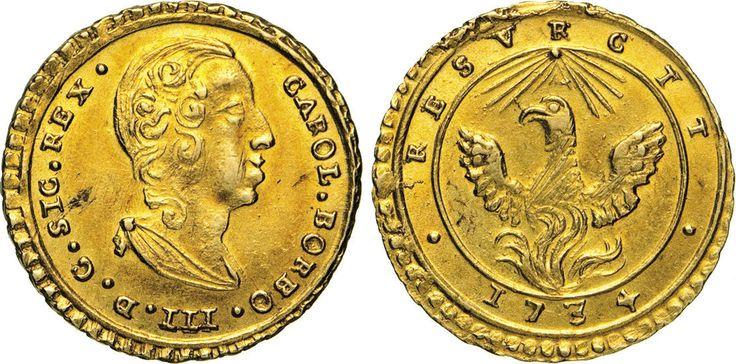 NumisBids: Numismatica Varesi s.a.s. Auction 65, Lot 526 : PALERMO - CARLO DI BORBONE (1734-1759) Oncia d'oro 1734. Sp. 1 ...