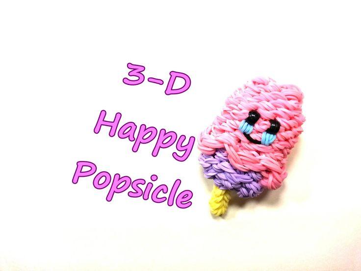 3-D happy popsicle