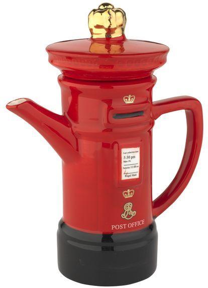 postbox tea pot