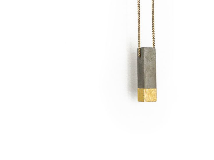 Beton+Halskette+[P1]+Kette+Anhänger+24+Karat+Gold+von+GANT+lights+auf+DaWanda.com