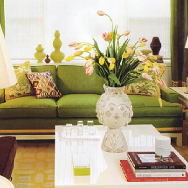 Greenery Sofa Decor Livingroom