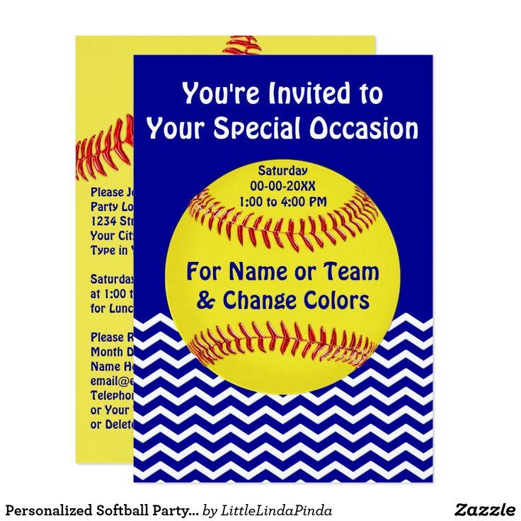 17 best ideas about Softball Birthday Parties – Softball Birthday Invitations