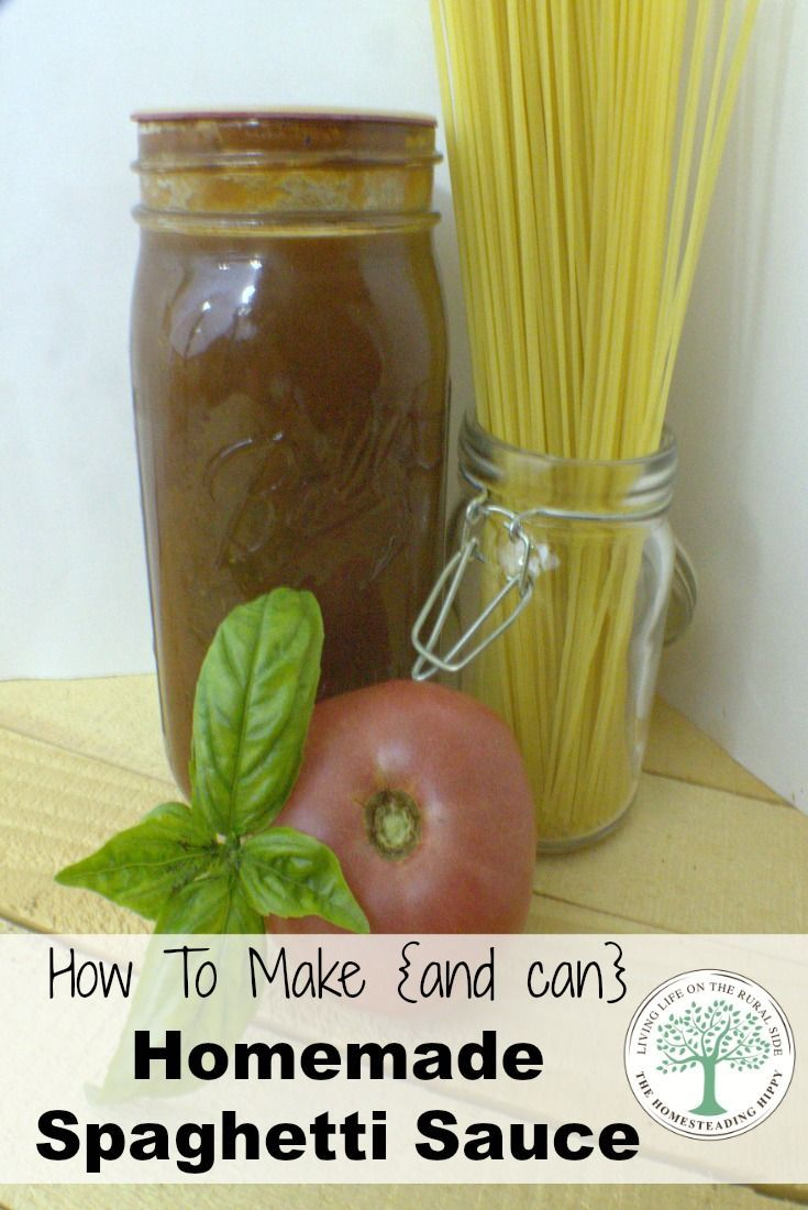 How to make and can homemade spaghetti sauce for all your pasta recipes! The…