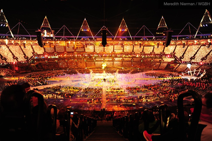 The Paralympic arena glowed red during the Opening Ceremonies on August 29th, 2012:  Carrousel,  Merry-Go-Round,  Whirligig,  Roundabout