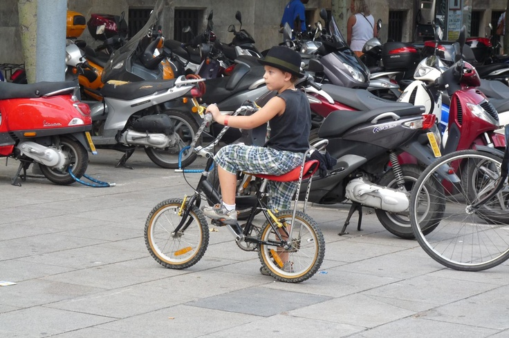 boy and his motorbike