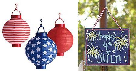 red white blue july 4th paper lanterns
