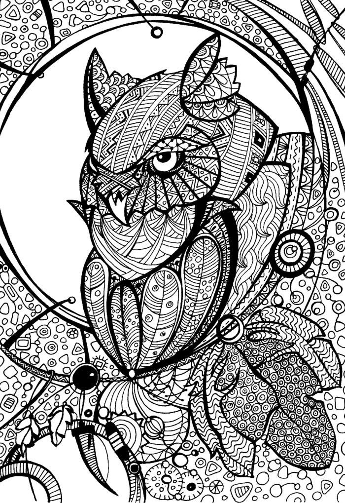 Coloring Pages For Adults With Owls 1176 Best O Adult Colouringowls