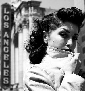 1950's hair.
