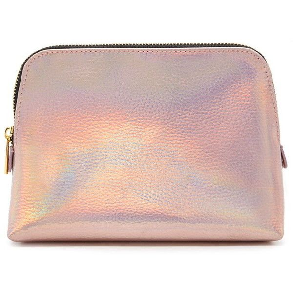 Forever 21 Holographic Makeup Bag found on Polyvore featuring beauty products, beauty accessories, bags & cases, toiletry kits, toiletry bag, cosmetic bag, makeup purse and travel toiletry case