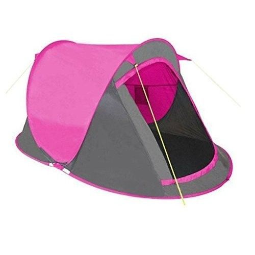 Family Camping Tent Picnic Outdoors Canopy Pink 2 People Tunnel Dome Pop Up Trip #FamilyCampingTent