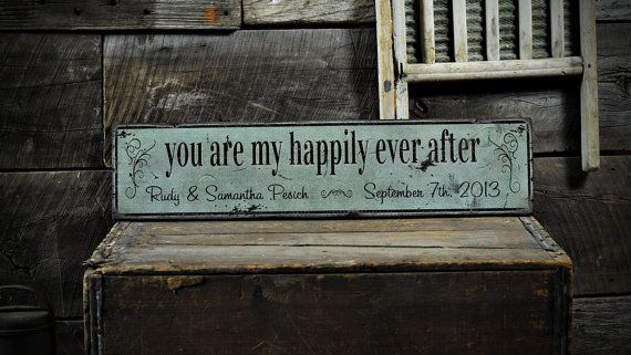 Custom You Are My Happily Ever After Sign - Rustic Hand Made Vintage Wooden ENS1000635