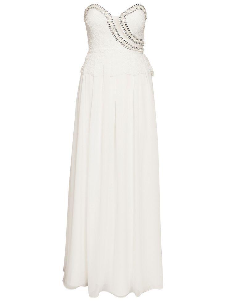 Lace Top Maxi Dress - Nly Eve - Valkoinen - Juhlamekot - Vaatteet - Nainen - Nelly.com