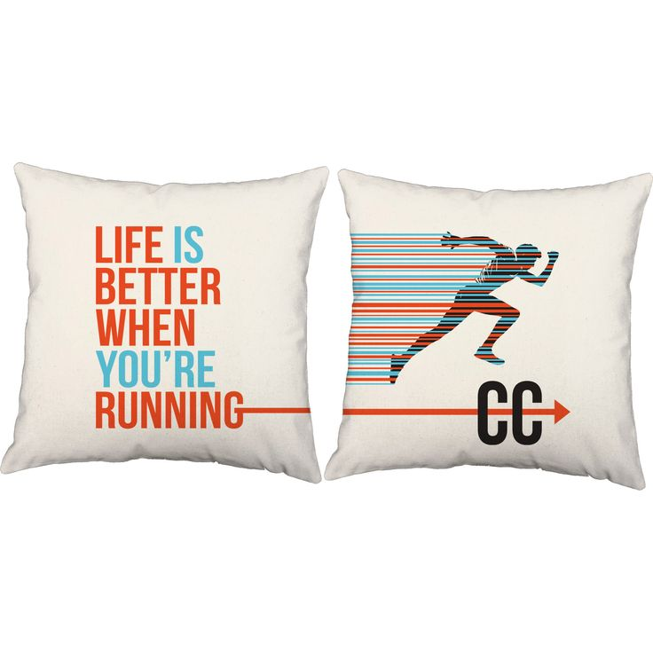 Life is better when you're running! These cross country throw pillows are perfect for those who love to run. They make decorating fun and easy! #roomcraft