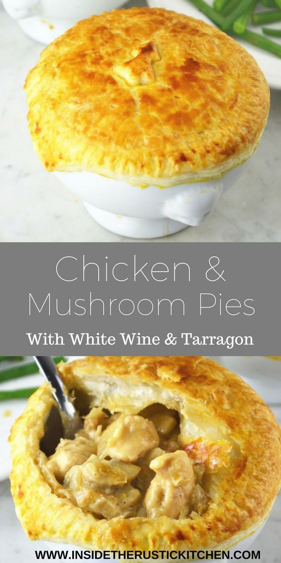 Try this recipe for Chicken and Mushroom Pies for a deliciously comforting weekday meal this winter. They are so simple and taste incredible .http://www.insidetherustickitchen.com