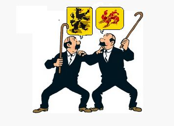 Belgium is a federal country, divided in a Flemish and a French speaking part