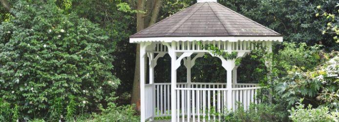 Pavillon-Dach decken - Schritt für Schritt