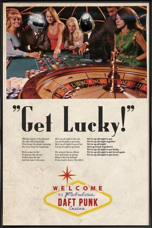 Get Lucky ! als Poster im Kunststoffrahmen von Ads Libitum | JUNIQE
