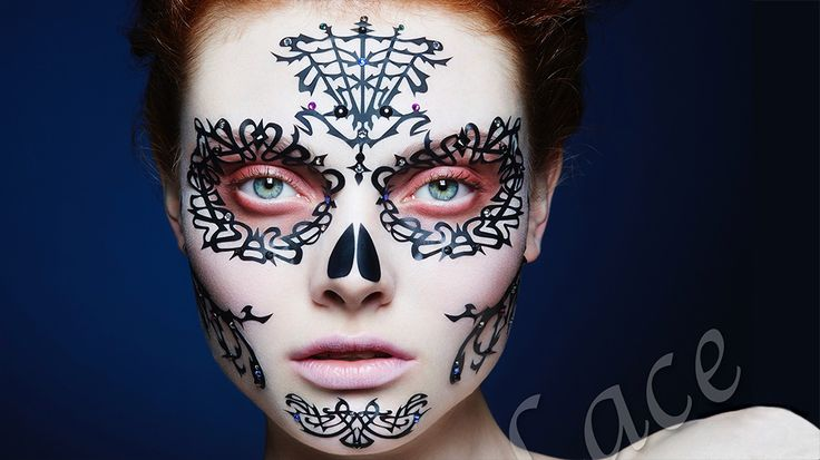 17 best images about day of the dead on pinterest sugar for Face tattoo makeup