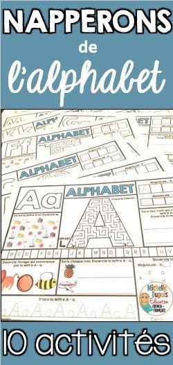 Cette ressource amusante contient 26 napperons (1 pour chacune des lettres de l'alphabet). Sur chacun des napperons, une multitude d'activités sont présentées afin de permettre aux élèves de se familiariser et de maitriser chaque lettre de l'alphabet.