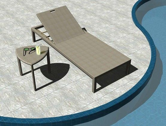 LUCENA Chaise Lounge and SAMAR Side Table